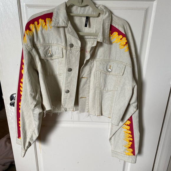 Dolls Kill Jackets & Blazers - Dolls Kill Flame Jacket